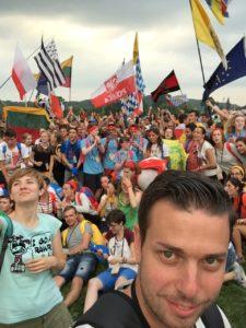 Philip Rusnak auf dem Weltjugendtag in Krakau